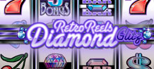 Retro Reels - Diamond Glitz, gives players a diamond-and-stainless steel, ultra-modern version of the slots of yesteryear, when simplicity and uncomplicated graphics ruled.Take a rewarding trip back to the basics of slot playing with Retro Reels - Diamond Glitz and earn some glittering prizes!